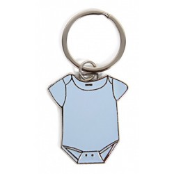 Llavero metal body bebé azul