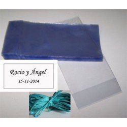 Presentación para regalos, bolsa, rafia y tarjeta