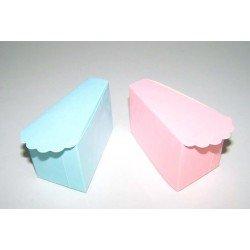 Caja con forma porción de pastel