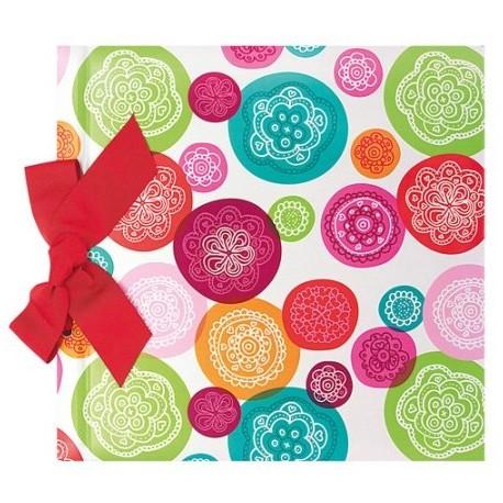 Libro firmas Boda círculos color con lazo, colección FRESCURA