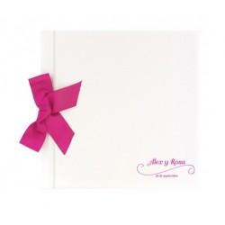 Libro de firmas boda Blanco brillo