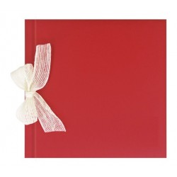 Libro de firmas boda Rojo gofrado