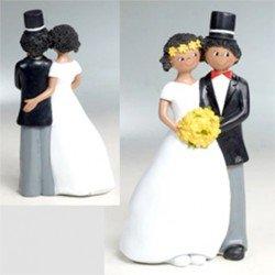 Figura tarta novia ramo amarillo