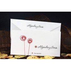 Invitación boda pequeños relieves