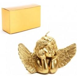 Vela Ángel en caja dorada
