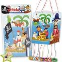 Piñata bandera piratas