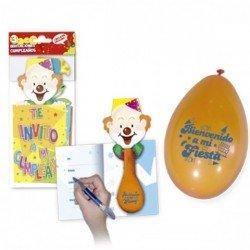 Invitaciones de cumpleaños con globos