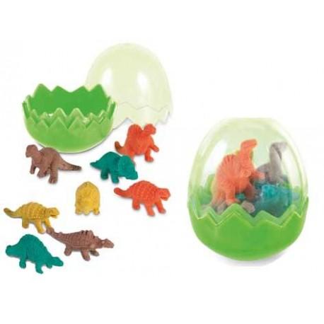 Goma de borrar 8 dinosaurios en huevo