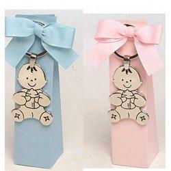Llavero metal Peloncetes bebé en caja alta a tono con peladillas