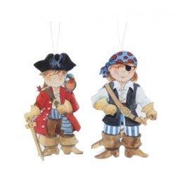 Imán en madera Pirata
