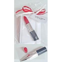 Bloc notas con bolígrafo barra labios