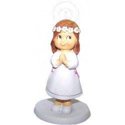Portafoto niña Comunión corona flores