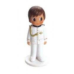 Figura niño Comunión traje blanco