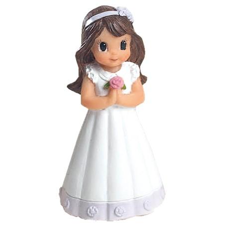 Figura niña Comunión vestido detalle lila