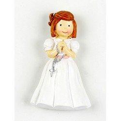 Imán niña con rosario Comunión