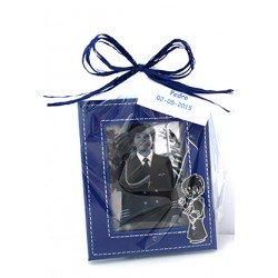 Marco fotos piel niño Comunión en bolsa y tarjeta