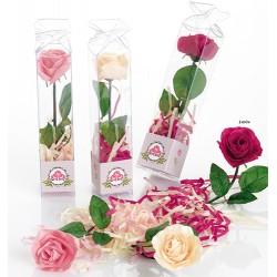 Rosa de jabón con serpertina de jabón