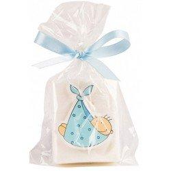 Jabón bebe pañuelo azul