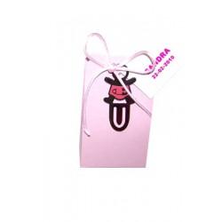 Punto de libro bebé imperdible rosa con peladillas