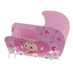 Caja bebé rosa presentar los detalles bautizo