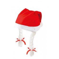 Gorro Papá Noel infantil trenzas
