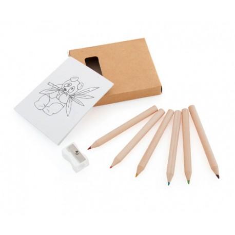Set plantillas para colorear con lápices