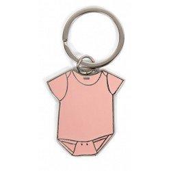 Llavero metal body bebé rosa