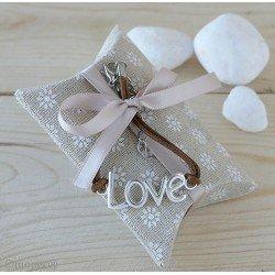 Pulsera LOVE en estuche con caramelos