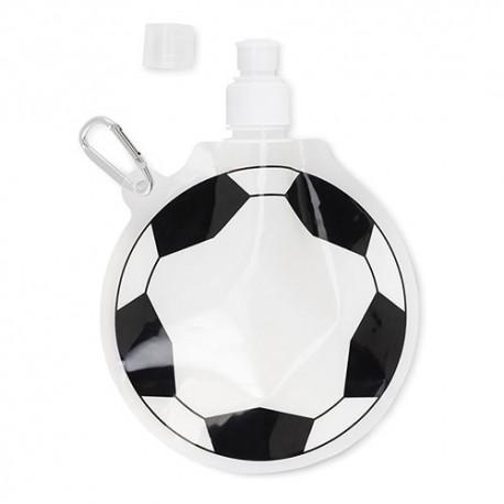 Botella infantil plegable balón fútbol