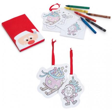 Caja ceras Papá Noel con ceras y plantillas