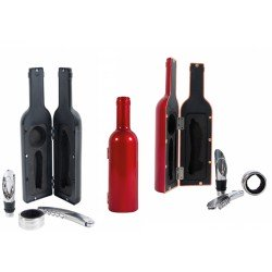Set vino estuche forma de botella