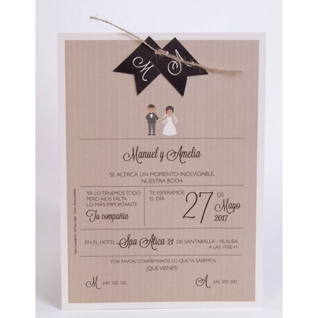 Invitación boda Edima Natural 705