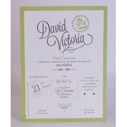 Invitación boda Edima Bouquet 701