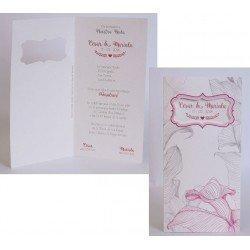 Invitación boda Edima Bouquet 735