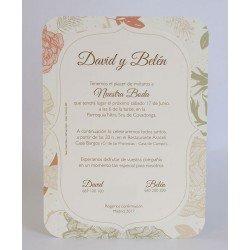 Invitación boda Edima Bouquet 703