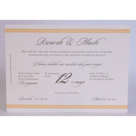 Invitación boda Edima Tradición 731
