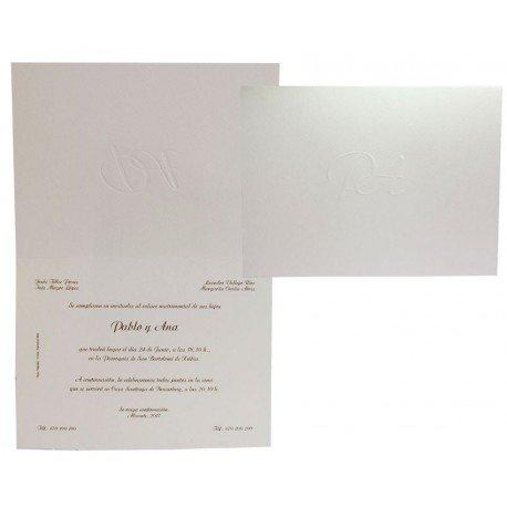 Invitación boda Edima Tradición 062