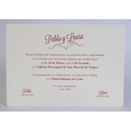 Invitación boda Edima Tradición 550