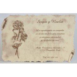 Tarjeta agradecimiento boda Esencia 133