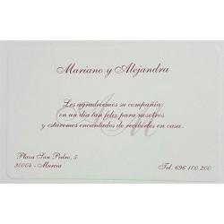 Tarjeta agradecimiento boda Esencia 324