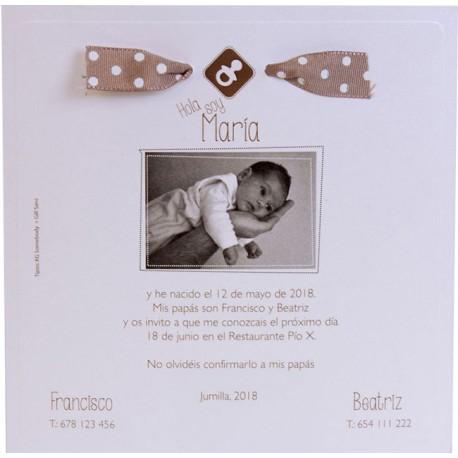 Invitación bautizo con foto 661