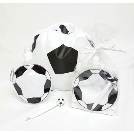 Set eventos mochila con botella plegable y boli fútbol