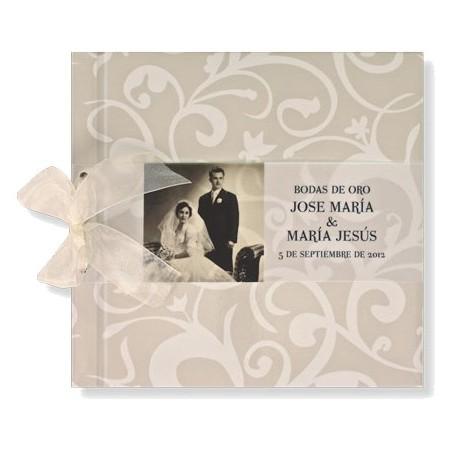 Libro de firmas boda Filigrana crema