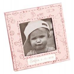 Marco de fotos piel en rosa motivos infantiles