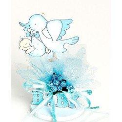 Clip sujeta fotos madera bebés azul con pic peladillas