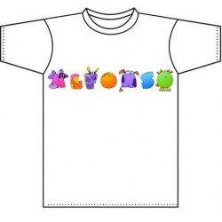 Camiseta blanca niños diseño Abs-Animals