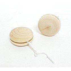 Yo-Yo en madera natural