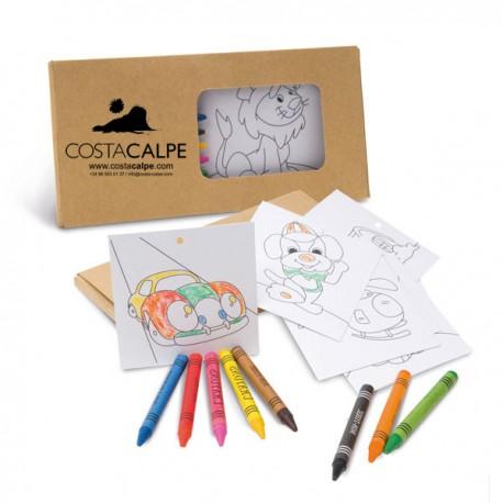 Set infantil con 8 lápices ceras y plantillas personalizado