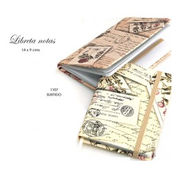 Libreta de notas estampada postales