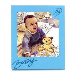 Marco de fotos baby azul